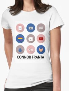 Connor Franta Infographic Womens Fitted T-Shirt