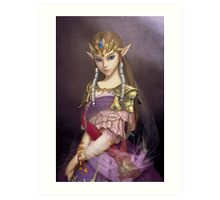 Portrait of Zelda of Hyrule Art Print