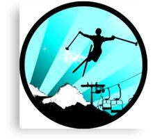 ski : powder trail Canvas Print