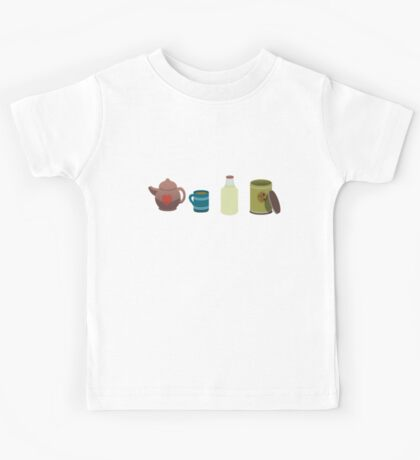A lovely cup of tea. Kids Tee