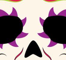 Sugar Skull Purple and Green ~ Sticker Sticker