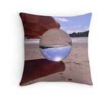 Sand globe Throw Pillow