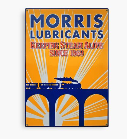 Tin Plate Sign - Morris Lubricants Canvas Print