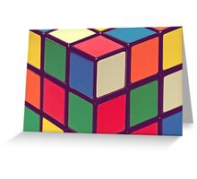 Vintage Cubes Greeting Card