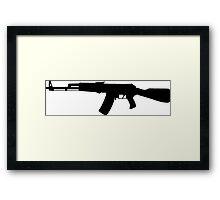 AK-47 assault rifle Kalashnikov Framed Print