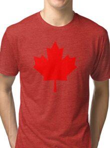 Canadian Maple Leaf Tri-blend T-Shirt