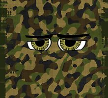 Funny Camouflaged Eyes, Military, Hunters, Army  by Val  Brackenridge