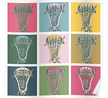 Lacrosse Marylin Blue Poster