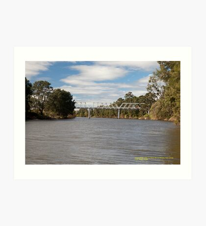 Historic Morpeth Bridge (1898) Hunter River, NSW Australia Art Print