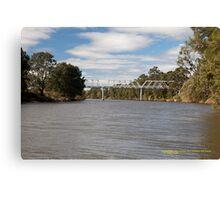 Historic Morpeth Bridge (1898) Hunter River, NSW Australia Canvas Print