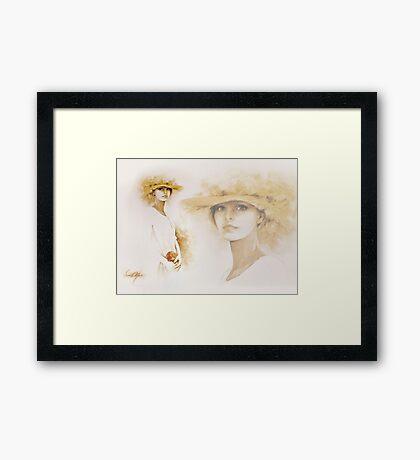 """Romantic"" Collage Framed Print"