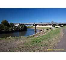Belmore Bridge over Hunter River, Maitland NSW Australia Photographic Print