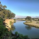 Werribee Winding (1) -- Between the Floods. by Larry Lingard-Davis