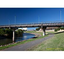Belmore Bridge over Hunter River & Maitland River Walk, Maitland NSW Photographic Print