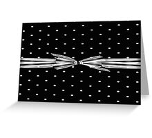 Black And White Polka Dots Greeting Card