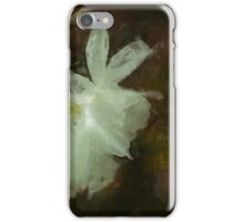 White Daffodils Floral Impressionist Painting iPhone Case/Skin