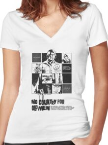 No Country for Old Men Women's Fitted V-Neck T-Shirt