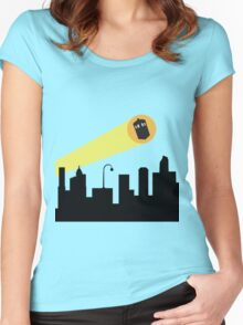 Bat Signal: Who Women's Fitted Scoop T-Shirt