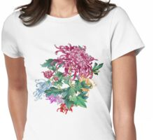 Japanese Bouquet Womens Fitted T-Shirt