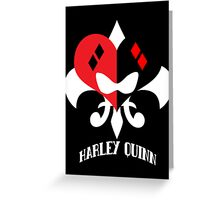 Harley Quinn - with text Greeting Card