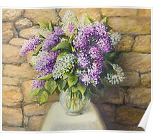 Still life with lilacs Poster