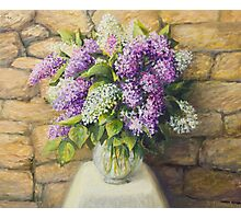 Still life with lilacs Photographic Print
