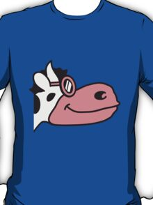 Cool Cow Face Cartoon T-Shirt