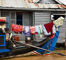 Cambodia - Lake Tonl'e Sap - #03 - Wash Day by Malcolm Heberle