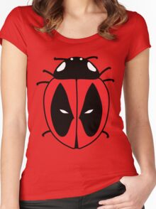 Bug with a mouth Women's Fitted Scoop T-Shirt