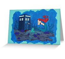 dr who and ariel Greeting Card