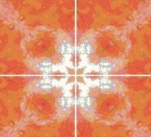 Orange Pattern 2 Sticker