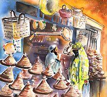 Morocco - Pottery Shop in Essaouira by Goodaboom