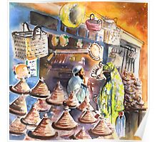 Morocco - Pottery Shop in Essaouira Poster