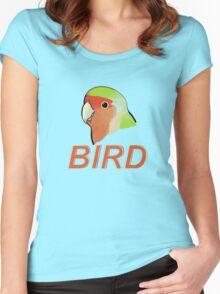 BIRD - Rosy-faced Lovebird Women's Fitted Scoop T-Shirt