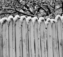 Winter Fence 13 Sticker