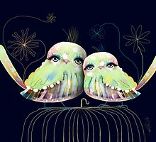 Little Love Birds by © Karin  Taylor