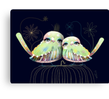 Little Love Birds Canvas Print