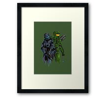 Halo Drawing Framed Print