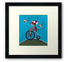 The Yellow Bike Framed Print