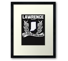 LAWRENCE,INDIANA Framed Print