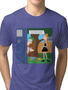 Phineas & Ferb Who Tri-blend T-Shirt