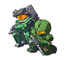 Halo Cute Art by DIMIART