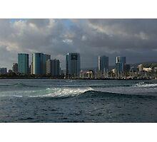 Sailing Into Honolulu, Hawaii Photographic Print