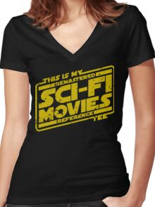 Sci-fi Movie Tee Women's Fitted V-Neck T-Shirt
