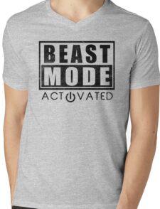 Beast Mode Bodybuilding Gym Sports Motivation Mens V-Neck T-Shirt