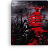 Stroll in Red Canvas Print