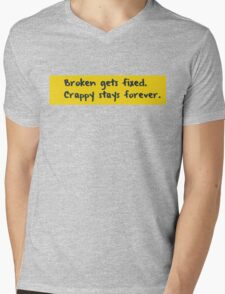 Every programmer learns this the hard way Mens V-Neck T-Shirt