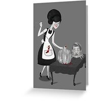Halloween housewife Greeting Card