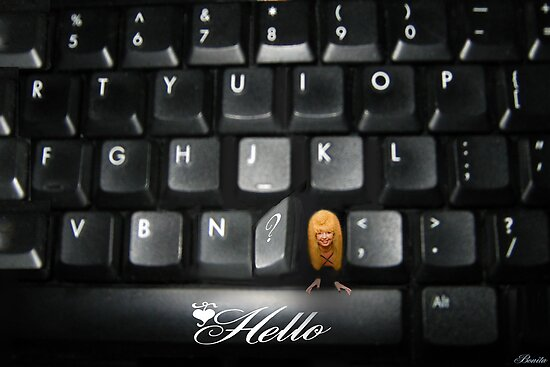 ❤‿❤ SAYING HELLO TO ALL FROM MY COMPUTER KEYBOARD❤‿❤  by ╰⊰✿ℒᵒᶹᵉ Bonita✿⊱╮ Lalonde✿⊱╮
