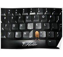 ❤‿❤ SAYING HELLO TO ALL FROM MY COMPUTER KEYBOARD❤‿❤  Poster